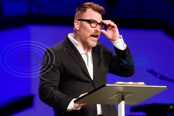 Josh White speaks during the re:new Gathering ahead of CityFest East Texas, which will be held in October, at Green Acres Baptist Church in Tyler, Texas, on Thursday, April 4, 2019. (Chelsea Purgahn/Tyler Morning Telegraph)