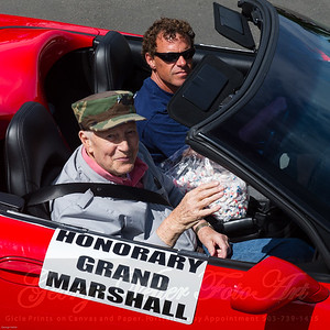 Honorary Grand Marshall James B. Thayer Sr., Mike Johnson