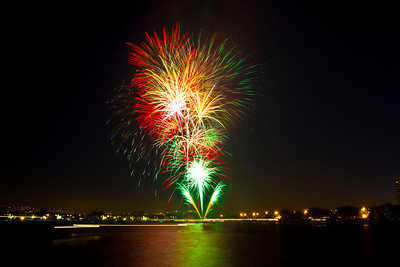 Fireworks. Foster City 4th of July in 2012