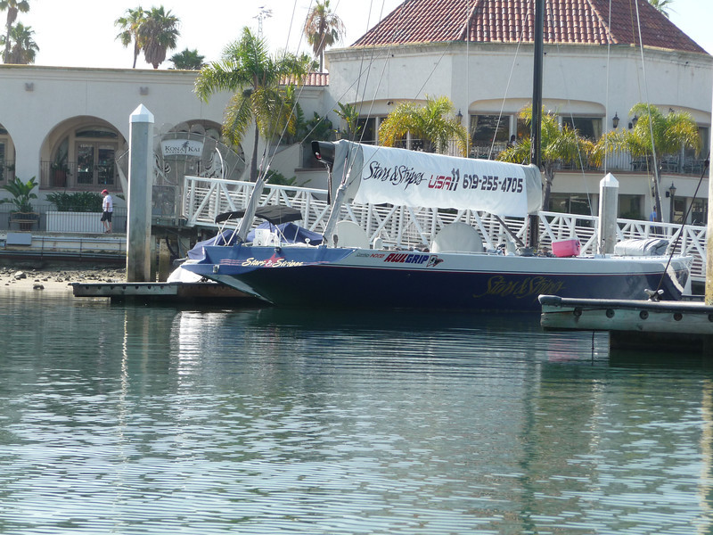 Star and Stripes docked at the Kona Kai club.  Available for tours.
