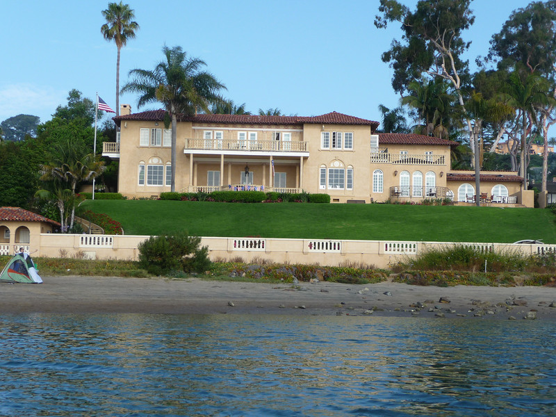 The Peckham Mansion on La Playa.  Just recently sold for 8 million dollars, we heard!