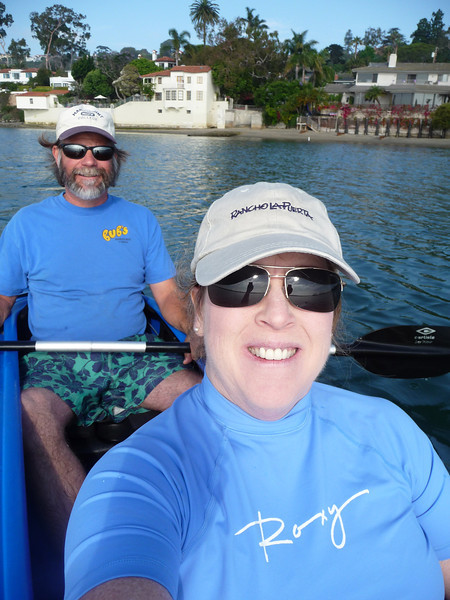 Us out for an early morning kayak on July 4th.  It is the perfect outdoor activity for us!
