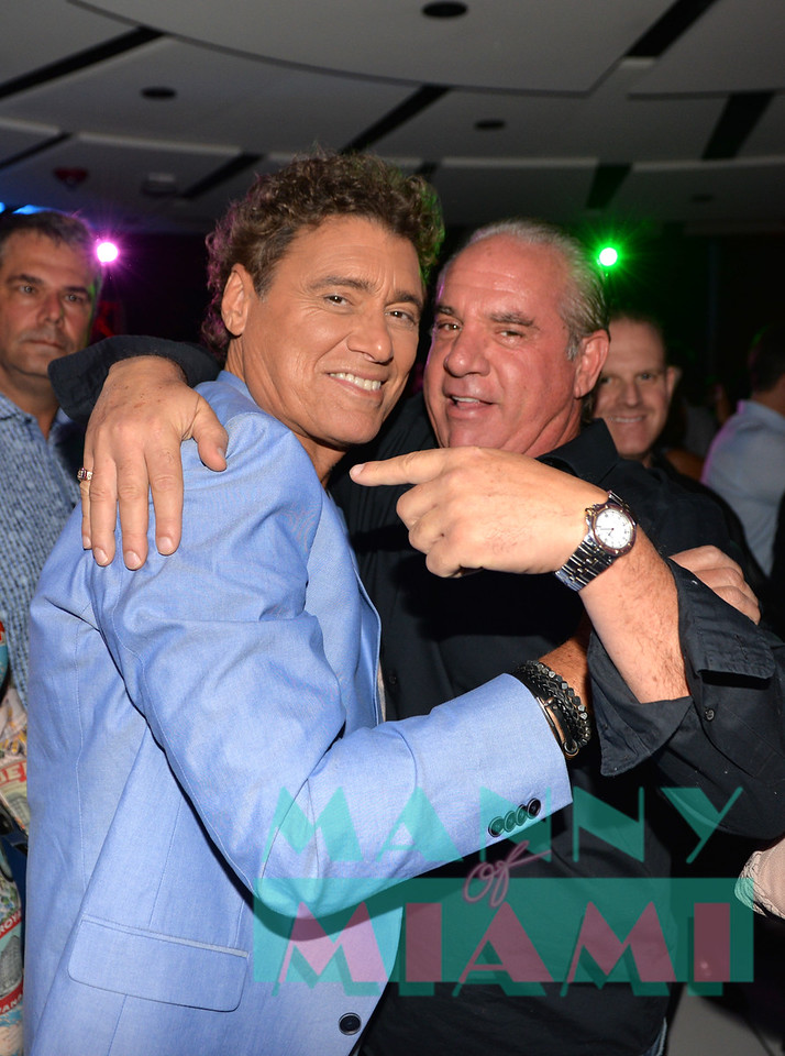 MIAMI, FL - MAY 17: Steven Bauer and Tommy Pooch at opening night of the live stage production of '¿Que Pasa, USA? Today...40 Years Later' on May 17, 2018 in Miami, Florida. (Photo by Manny Hernandez)