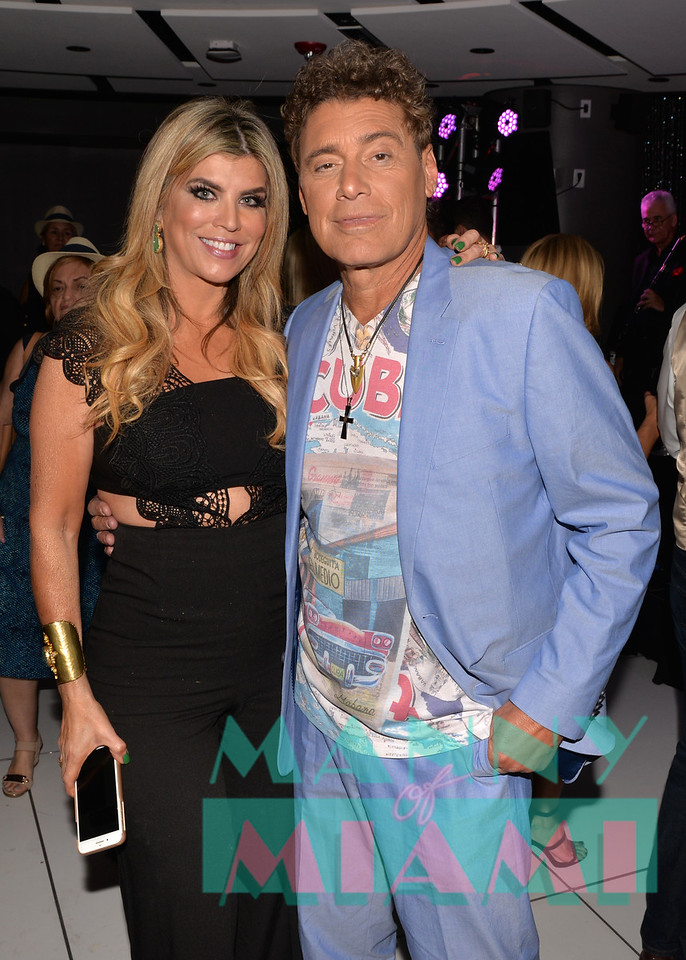 MIAMI, FL - MAY 17: Ana Quincoces and Steven Bauer at opening night of the live stage production of '¿Que Pasa, USA? Today...40 Years Later' on May 17, 2018 in Miami, Florida. ((Photo by Manny Hernandez)