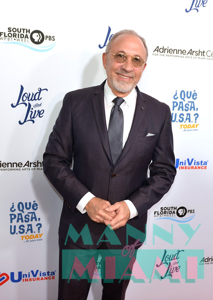 MIAMI, FL - MAY 17: Emilio Estefan at opening night of the live stage production of '¿Que Pasa, USA? Today...40 Years Later' on May 17, 2018 in Miami, Florida. (Photo by Manny Hernandez/Wireimage)