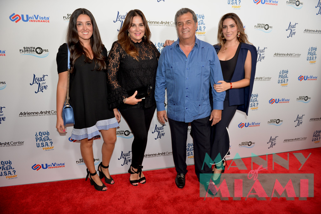 MIAMI, FL - MAY 17: The Valls Family at opening night of the live stage production of '¿Que Pasa, USA? Today...40 Years Later' on May 17, 2018 in Miami, Florida. (Photo by Manny Hernandez))