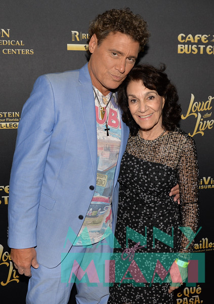 MIAMI, FL - MAY 17: Steven Bauer and mom Lillian Samson Agostini at opening night of the live stage production of '¿Que Pasa, USA? Today...40 Years Later' on May 17, 2018 in Miami, Florida. (Photo by Manny Hernandez)
