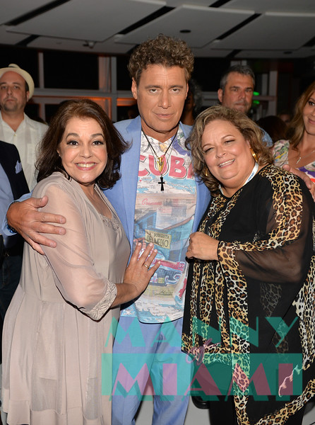 MIAMI, FL - MAY 17: Connie Ramirez, Steven Bauer and Ana Margo at opening night of the live stage production of '¿Que Pasa, USA? Today...40 Years Later' on May 17, 2018 in Miami, Florida. (Photo by Manny Hernandez)