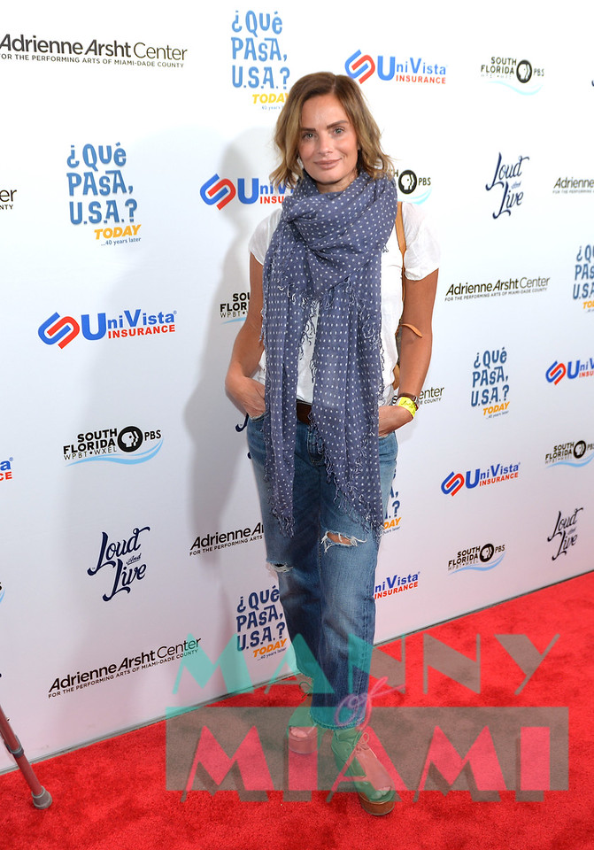 MIAMI, FL - MAY 17: Gabrielle Anwar at opening night of the live stage production of '¿Que Pasa, USA? Today...40 Years Later' on May 17, 2018 in Miami, Florida. (Photo by Manny Hernandez)
