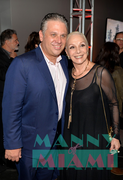 MIAMI, FL - MAY 17: Loud and Live president Nelson Albareda and Martha Picanes at opening night of the live stage production of '¿Que Pasa, USA? Today...40 Years Later' on May 17, 2018 in Miami, Florida. (Photo by Manny Hernandez)
