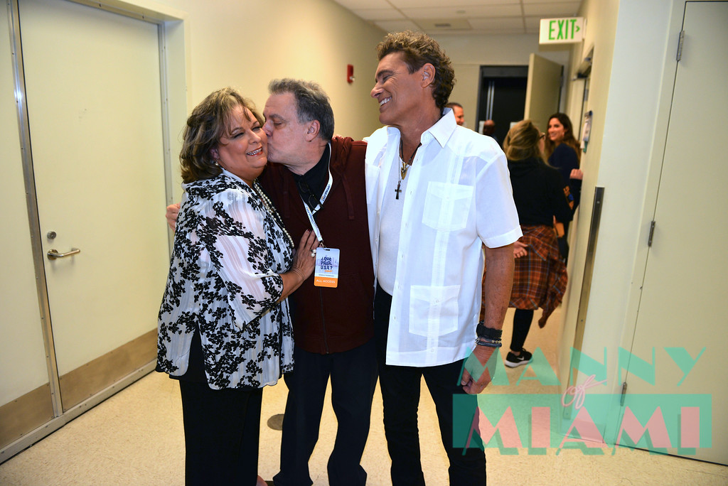 MIAMI, FL - MAY 17: Ana Margo,Gonzalo Rodriguez,  Steven Bauer at opening night of the live stage production of '¿Que Pasa, USA? Today...40 Years Later' on May 17, 2018 in Miami, Florida.(Photo by Manny Hernandez)
