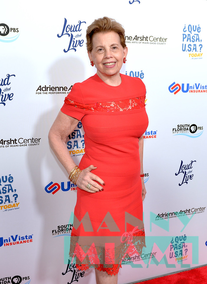 MIAMI, FL - MAY 17: Adrienne Arsht at opening night of the live stage production of '¿Que Pasa, USA? Today...40 Years Later' on May 17, 2018 in Miami, Florida.(Photo by Manny Hernandez)