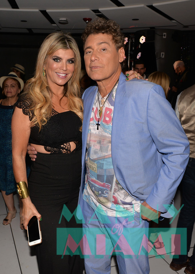 MIAMI, FL - MAY 17: Ana Quincoces and Steven Bauer at opening night of the live stage production of '¿Que Pasa, USA? Today...40 Years Later' on May 17, 2018 in Miami, Florida. (Photo by Manny Hernandez)