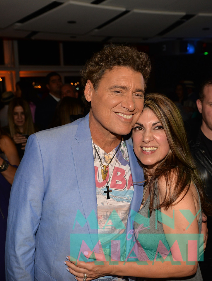 MIAMI, FL - MAY 17: Steven Bauer and Jade Alexander at opening night of the live stage production of '¿Que Pasa, USA? Today...40 Years Later' on May 17, 2018 in Miami, Florida. (Photo by Manny Hernandez)