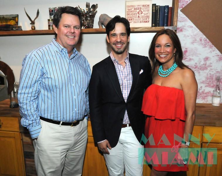Tom Wood, Alejandro Ortiz and Kim Wood