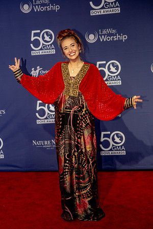 Lauren Daigle on the red carpet for the 50th Annual GMA Dove Awards at Allen Arena, Lipscomb University on October 15, 2019 in Nashville, Tennessee. (Photo by Annette Holloway)