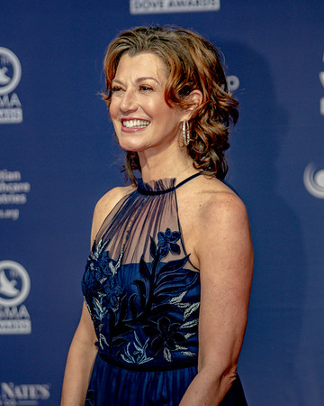 Amy Grant on the red carpet for the 50th Annual GMA Dove Awards at Allen Arena, Lipscomb University on October 15, 2019 in Nashville, Tennessee. (Photo by Annette Holloway)