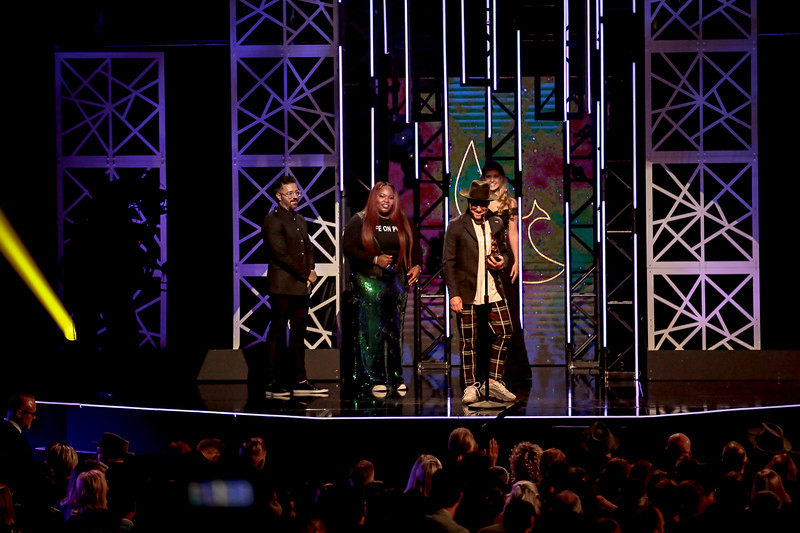 TobyMac winning  Contemporary Christian Artist of the Year at the 50th Annual GMA Dove Awards at Allen Arena, Lipscomb University on October 15, 2019 in Nashville, Tennessee. (Photo by Annette Holloway)
