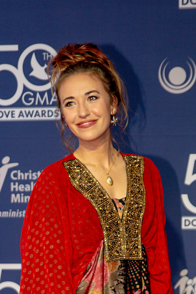 Lauren Daiigle on the red carpet for the 50th Annual GMA Dove Awards at Allen Arena, Lipscomb University on October 15, 2019 in Nashville, Tennessee. (Photo by Annette Holloway)