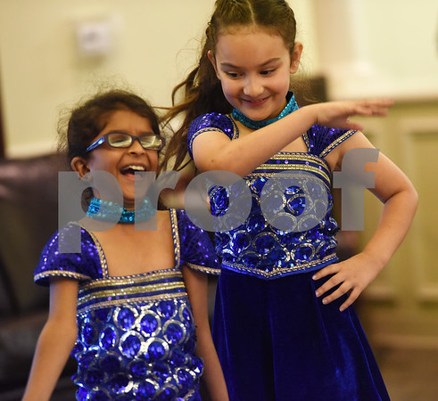Diya Patel, 8, and Ceci Torres, 7, dance at The Heights of Tyler Thursday May 12, 2016.  (Sarah A. Miller/Tyler Morning Telegraph)