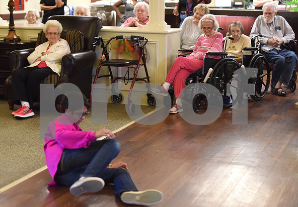 Aryan Patel, 13, dances at The Heights of Tyler May 12, 2016. Several children involved in the Indian Association of East Texas performed for the senior citizens at The Heights.  (Sarah A. Miller/Tyler Morning Telegraph)
