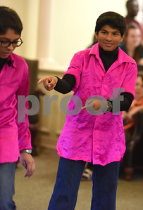 Aryan Patel, 13, and Shaan Prasad, 13, dance at The Heights of Tyler May 12, 2016. Several children involved in the Indian Association of East Texas performed for the senior citizens at The Heights.  (Sarah A. Miller/Tyler Morning Telegraph)