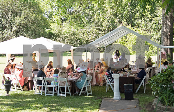 Women attend the 7th Annual Mother's Day Tea at Walker Manor Bed & Breakfast in Gladewater Saturday May 13, 2017.  (Sarah A. Miller/Tyler Morning Telegraph)