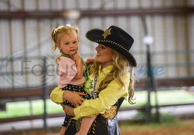 Vievie Blanchard, Miss Rodeo Jacksonville Teen, holds a young girl at the Special Needs Junior Rodeo put on by the TOPS in Texas Rodeo. The event took place in Jacksonville on Saturday, May 18. (Jessica T. Payne/Tyler Morning Telegraph)