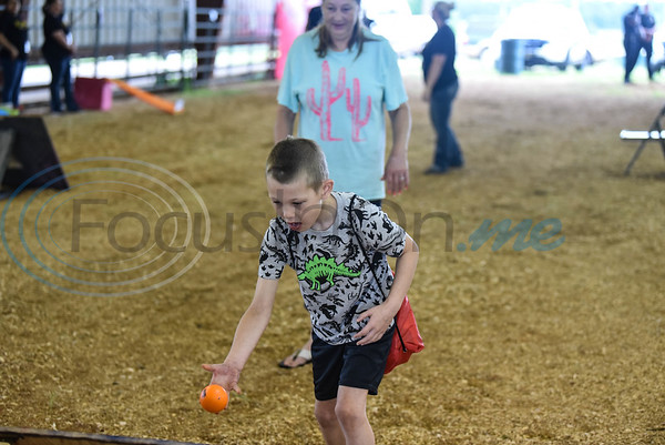 Cody Stafford, 7, throws a ball at the Special Needs Junior Rodeo put on by the TOPS in Texas Rodeo. The event took place in Jacksonville on Saturday, May 18. (Jessica T. Payne/Tyler Morning Telegraph)