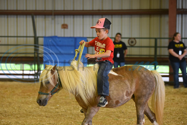 Rody Owens Robinson, 7, rides a miniature horse at the Special Needs Junior Rodeo put on by the TOPS in Texas Rodeo. The event took place in Jacksonville on Saturday, May 18. (Jessica T. Payne/Tyler Morning Telegraph)