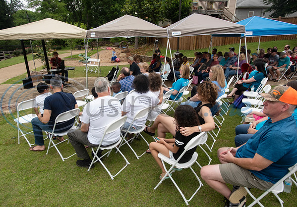 People attend the Tyler Compassionate Friends butterfly release at The Children's Park in Tyler on Saturday May 18, 2019. The event recognizes children who have died and is attended by parents, siblings and other family members.  (Sarah A. Miller/Tyler Morning Telegraph)