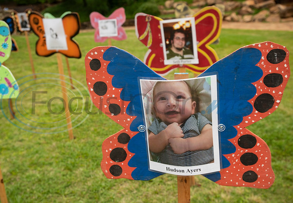 Infant Hudson Ayers of Rusk is one of the children represented at the Tyler Compassionate Friends butterfly release at The Children's Park in Tyler on Saturday May 18, 2019. The event recognizes children who have died and is attended by parents, siblings and other family members.  (Sarah A. Miller/Tyler Morning Telegraph)