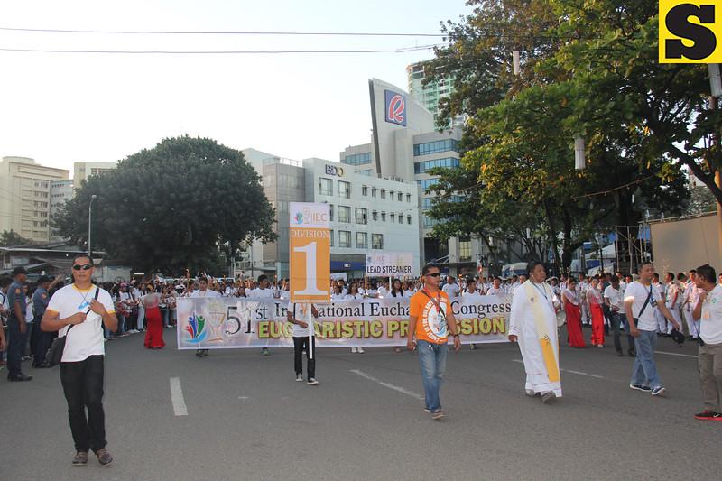 Head of the IEC grand procession at Fuente Osmena circle in Cebu City
