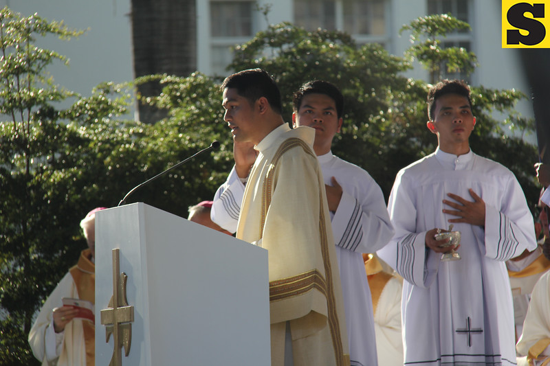 Reading of the Holy Gospel during IEC Capitol Mass