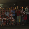 Pilgrims waiting for the arrival of Blessed Sacrament at Plaza Independencia