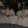 Bishops and cardinals seated at Plaza Independencia for the IEC Benediction