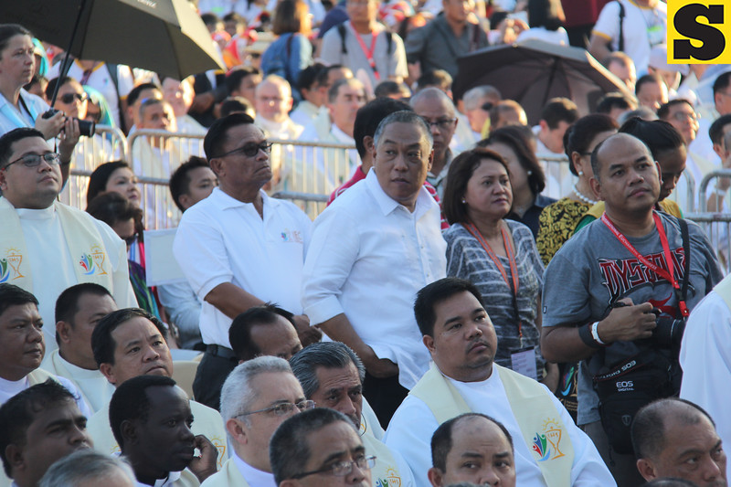Cebu Governor Hilario Davide attends the IEC Capitol Mass