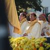 Papal legate Charles Maung Cardinal Bo seated among cardinals during the IEC Capitol Mass