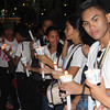 Students help control the crowd during IEC grand procession from Capitol to Plaza Independencia