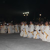 Bishops kneeling during IEC Benediction at Plaza Independencia