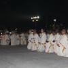 Bishops kneeling during IEC Benediction at Plaza Independencia
