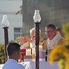 Dublin Archbishop Diarmund Martin prepares for the homily during IEC Capitol mass