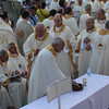 Bishops and priests during the Holy Communiom