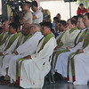 Priests attending mass during the Table of Hope Banquet in Cebu City, Philippines