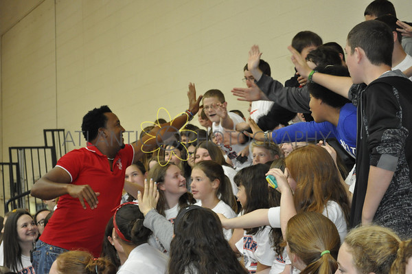 5.27.14 - Pedro Martinez visits Furnace Brook Middle School