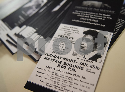 Flyers for Friends of the Mayfair are set out at the Mayfair Building Wednesday May 31, 2017 in Tyler.  (Sarah A. Miller/Tyler Morning Telegraph)