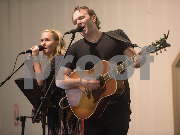 Megan Magill and Matt Magill perform at the subject marker dedication celebration for the Mayfair Building Wednesday May 31, 2017 in Tyler.  (Sarah A. Miller/Tyler Morning Telegraph)