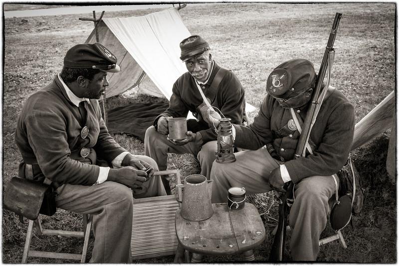 Reenacting camp