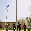 Record-Eagle/Keith King<br /> An Honor Guard raises the American flag Sunday, May 22, 2011 at the beginning of the 56th annual Northwestern Michigan College Barbecue.