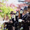 Record-Eagle/Keith King<br /> An Honor Guard salutes while the National Anthem is sung Sunday, May 22, 2011 at the beginning of the 56th annual Northwestern Michigan College Barbecue.